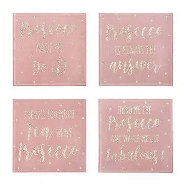 Prosecco Quotes Drinks Coasters